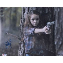 "Cailey Fleming Signed ""The Walking Dead"" 11x14 Photo (PSA COA)"