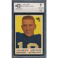 1959 Topps #1 Johnny Unitas (BCCG 7)