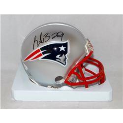 LeGarrette Blount Signed New England Patriots Mini Helmet (JSA COA)