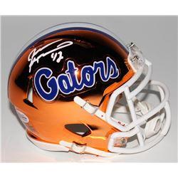Jevon Kearse Signed Florida Gators Chrome Speed Mini-Helmet (Beckett COA)