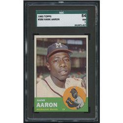1963 Topps #390 Hank Aaron (SGC 7)