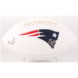 Ben Coates Signed New England Patriots Logo Football (Beckett COA)
