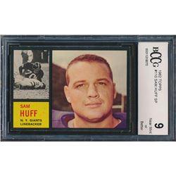1962 Topps #110 Sam Huff SP (BCCG 9)