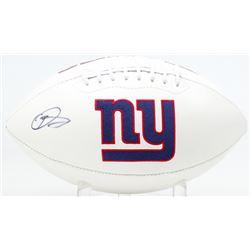Odell Beckham Jr. Signed New York Giants Logo Football (JSA COA)