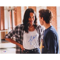 "Tom Holland  Laura Harrier Signed ""Spider-Man: Homecoming"" 11x14 Photo (PSA COA)"