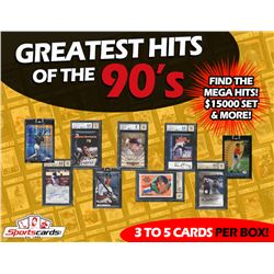 """""""Case of (10)"""" Sportscards.com """"Greatest Hits of the 90's"""" Autographs  Rare Card Box!"""