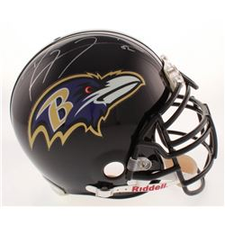 Ray Lewis Signed Baltimore Ravens Full-Size Authentic On Field Helmet (PSA COA)