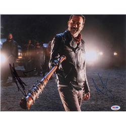 "Jeffrey Dean Morgan  Andrew Lincoln Signed ""The Walking Dead"" 11x14 Photo (PSA COA)"