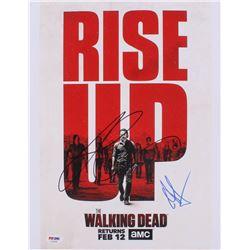 "Lauren Cohan  Andrew Lincoln Signed ""The Walking Dead"" 11x14 Photo (PSA COA)"