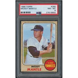 1968 Topps #280 Mickey Mantle (PSA 8)