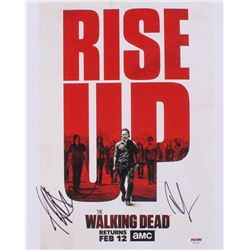 "Jeffrey Dean Morgan  Andrew Lincoln Signed ""The Walking Dead"" 11x14 Photo (PSA COA)"
