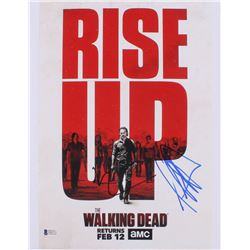 "Jeffrey Dean Morgan  Norman Reedus Signed ""The Walking Dead"" 11x14 Photo (Beckett Hologram)"