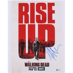 "Jeffrey Dean Morgan Signed ""The Walking Dead"" 11x14 Photo (Beckett Hologram)"