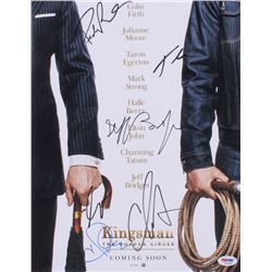 """""""Kingsman: The Golden Circle"""" 11x14 Photo Signed by (6) with Halle Berry, Channing Tatum, Jeff Bridg"""