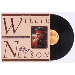 """Willie Nelson Signed """"There'll Be No Teardrops Tonight"""" Vinyl Record Cover (PSA COA)"""