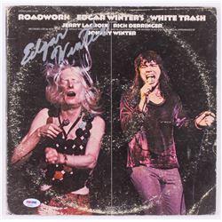 """Edgar Winter Signed """"Edgar Winter's White Trash"""" Record Cover (PSA COA)"""