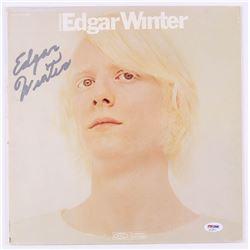 """Edgar Winter Signed """"Entrance"""" Record Cover (PSA COA)"""