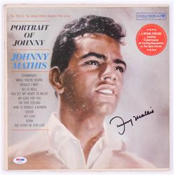 """Johnny Mathis Signed """"Portrait of Johnny"""" Record Cover (PSA COA)"""