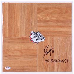 "Domantas Sabonis Signed Gonzaga Bulldogs Logo Vinyl Plank Floor Piece Inscribed ""Go Bulldogs"" (PSA C"