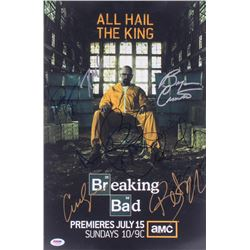 """""""Breaking Bad"""" 12x18 Photo Signed by (9) with Bryan Cranston, Aaron Paul, RJ Mitte, Betsy Brandt, Bo"""