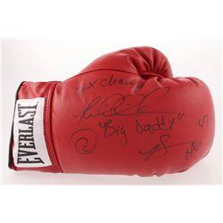 Riddick Bowe Signed Everlast Boxing Glove with (5) Inscriptions (JSA COA)