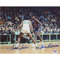 Oscar Robertson  Sam Jones Signed 8x10 Photo (PSA COA)