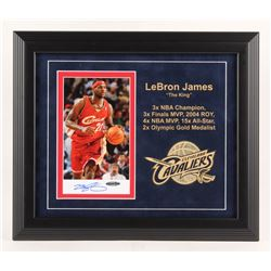 LeBron James Signed Cleveland Cavaliers 14.25x16.5 Custom Framed Photo Display (JSA LOA  UDA Hologra