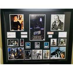 Star Wars: The Empire Strikes Back Cast-Signed 35x43 Custom Framed Display with (16) Signatures Incl