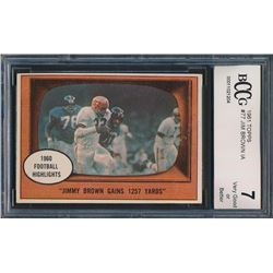 1961 Topps #77 Jim Brown In-Action (BCCG 7)