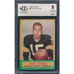 1963 Topps #86 Bart Starr (BCCG 8)