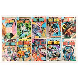 """Lot of (10) 1980 DC """"Batman"""" Comic Books Issues with #325, #320, #327, #324, #319"""