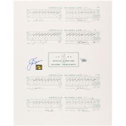 Jack Nicklaus Signed 1986 Masters Full Scorecard 16x20 Print (Fanatics Hologram  Nicklaus Hologram)