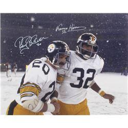 Franco Harris  Rocky Bleier Signed Pittsburgh Steelers 16x20 Photo (JSA COA)
