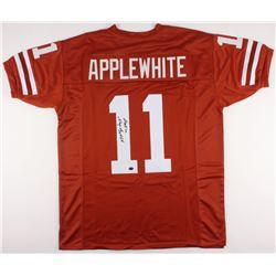 """Major Applewhite Signed Jersey Inscribed """"Hook'em"""" (JSA COA)"""