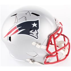 Sony Michel Signed New England Patriots Full-Size Speed Helmet (JSA COA)