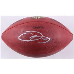 """Odell Beckham Jr. Signed """"The Duke"""" New York Giants Custom Engraved Official NFL Game Ball (JSA COA)"""