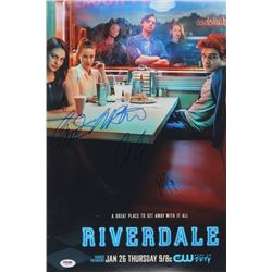 """Riverdale"" 12x18 Poster Print Signed By (4) with Lili Reinhart, Cole Sprouse, Madelaine Petsch  Cam"