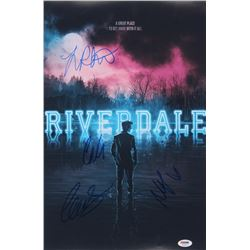"""Riverdale"" 12x18 Poster Print Signed By (4) with Lili Reinhart, Cole Sprouse, Madelaine Petsch,  Ca"