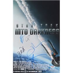 """Star Trek: Into Darkness"" 11x17 Movie Poster Print Signed By (6) with Zachary Quinto, Chris Pine, J"