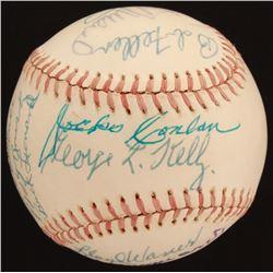 ONL Baseball Signed by (15) with Stan Musial, Ralph Kiner, Bob Feller, Yogi Berra (JSA LOA)