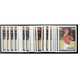 Lot of (25) 1991 Topps #333 Chipper Jones RC
