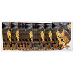 Lot of (10) 1996-97 Hoops #281 Kobe Bryant RC