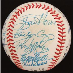 Late 1970s Los Angeles Dodgers  San Francisco Giants ONL Baseball Signed by (24) with Steve Howe, Re