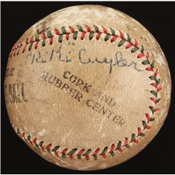 OL Baseball Signed by (5) with Honus Wagner, Kiki Cuyler, Lee Meadows With Multiple Inscriptions (Be