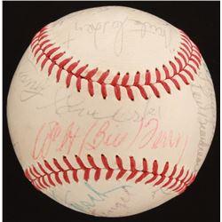 ONL Baseball Signed by (19) with Bob Feller, Bill Dickey, Casey Stengel, Red Ruffing (JSA LOA  Becke