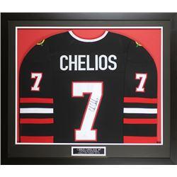 Chris Chelios Signed 32x37 Custom Framed Jersey Display (JSA COA)