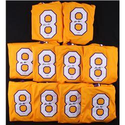 Lot of (10) Kobe Bryant Signed Jerseys (PSA COA)