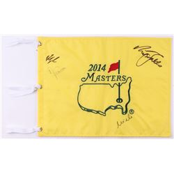 Fred Couples, Nick Frado, Angel Cabrera,  Mike Weir Signed 2014 Masters Golf Pin Flag (Beckett LOA)