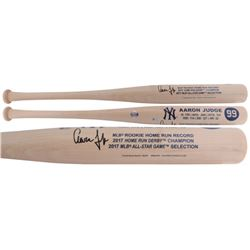 Aaron Judge Signed New York Yankees Custom Engraved Rookie Stat Baseball Bat (Fanatics Hologram)