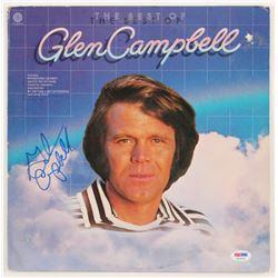 """Glen Campbell Signed """"The Best of Glen Campbell"""" Vinyl Record Album Cover (PSA COA)"""